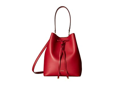 LAUREN Ralph Lauren Dryden Debby Drawstring Medium (Red/Truffle) Drawstring Handbags