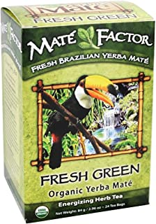 The Mate Factor Fresh Green Organic Yerba Mate Tea - 24 Tea Bags