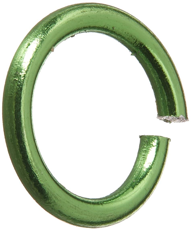 Darice BG1006 Jump Ring Aluminum Olivine 7.25In