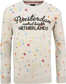 Soulstar Men's Amsterdam Spotty Print Pullover Sweatshirt Jumper Top Size