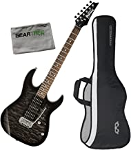 Ibanez GRX70QATKS GIO RX Electric Guitar Transparent Black Sunburst w/Gig Bag a