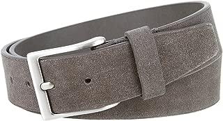Men's Casual Genuine Suede Leather Belt 1 1/2