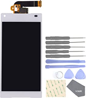 VEKIR Cell Phones Replacement Parts for Sony Xperia Z5 Compact Z5 Mini E5823 E5803 Display Touch Digitizer Screen Assembly(White)[No Screen Frame]
