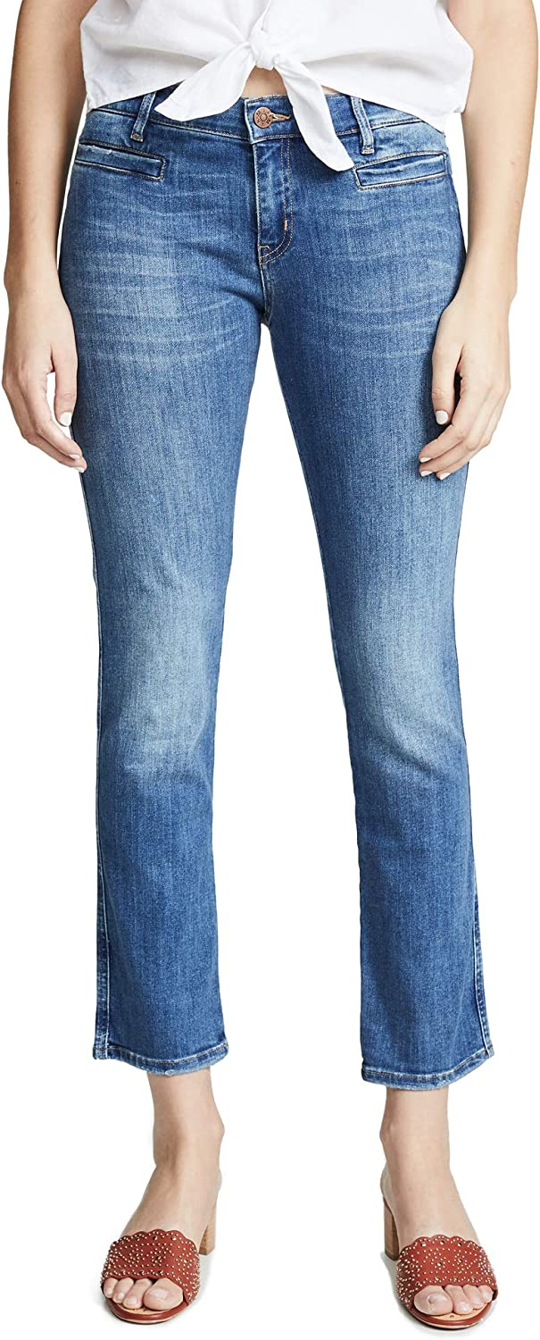 MiH Jeans Womens Women's Paris Mid Rise Cropped Slim Jeans