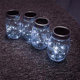 ledmomo Solar Mason Jar Coperchio Inserire, 6.6 ft 20 LED Mason Jar Luce solare per barattoli Mason in vetro e giardino de...