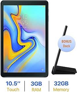 Samsung Galaxy Tab A 10.5'' Touchscreen (1920x1200) WiFi Tablet, 8-Core 1.8 GHz Qualcomm Processor, 3GB RAM, 32GB Memory, Bonus Pogo Charging Dock, Bluetooth, Android 8.0, Black, Choose Your MicroSD