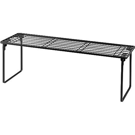 【BLKP】 パール金属 コンロ奥 ラック 幅60cm 高足タイプ 限定 ブラック 排気口上 キッチン 収納 BLKP 黒 AZ-5055