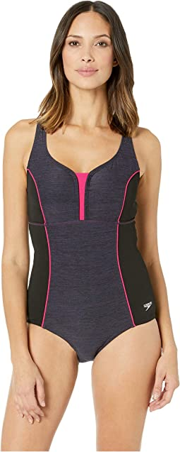 Texture Touchback One-Piece