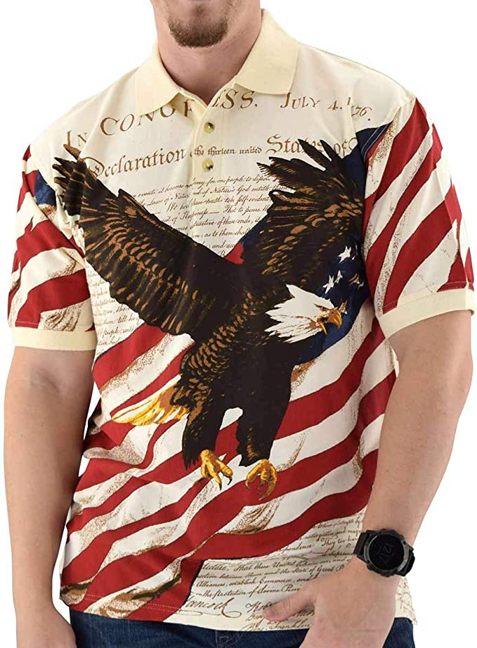 American Eagle USA Flag New Men/'s Shirt Strong Nation Liberal Patriotic Top Tees