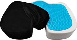 Mars Wellness Orthopedic Gel Memory Foam Coccyx Seat Cushion - Sciatica, Back Pain Relief, and Tailbone Pain - Soft Remova...