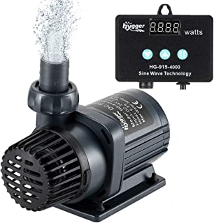Hygger Quiet Submersible and External 24V DC Water Pump, with Controller (30%-100% Settings), Powerful Return Pump for Fish Tanks, Aquariums, Ponds, Fountains, Sump, Hydroponics