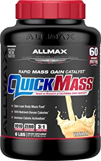 ALLMAX Nutrition QuickMass Rapid Mass Gain Catalyst, Vanilla, 6 lbs