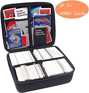 PAIYULE Extra Large Hard Case (2 Row) For Cards Against Humanity. Fits The Main Game,Includes 4 Removable Dividers. Fits Up To 1600 Cards