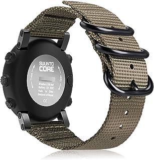 Fintie for Suunto Core Watch Band, Premium Woven Nylon Replacement Sport Strap with Metal Buckle for Suunto Core Smart Watch, Desert Tan