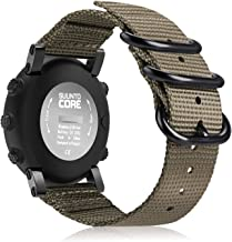 Fintie for Suunto Core Watch Band, Premium Woven Nylon Replacement Sport Strap with Metal Buckle for Suunto Core Smart Watch, Desert Tan