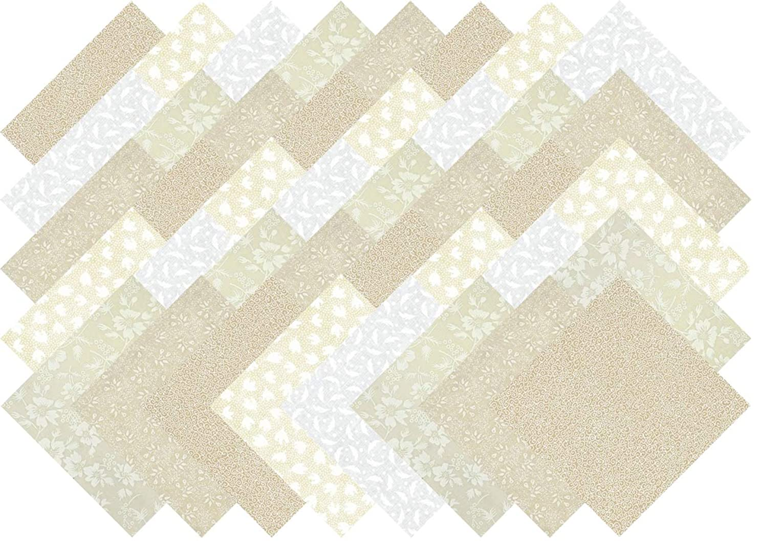 Tone on Tone Collection 40 Precut 5-inch Quilting Fabric Squares Charm Pack