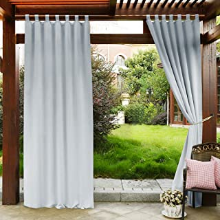 Bon PONY DANCE Outdoor Curtain For Patio   Tab Top Light Blocking Curtains  Drapes UV Protection Waterproof