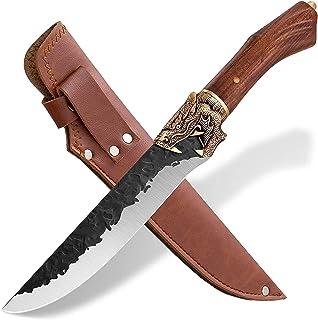 Couteau à Désosser Japonais Couteau Viking Couteau Cuisine Chef Acier Carboné Couteau de Boucher Professionnel Couteau Gyu...