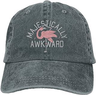 Moonmoon Unisex Majestically Awkward Flamingo Personal Group Athletic  Cowboy Cap Peaked Baseball Cap 868423757690