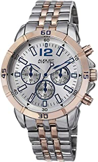August Steiner Mens Chronograph Casual Watch, Analog and Stainless Steel - AS8111TTR