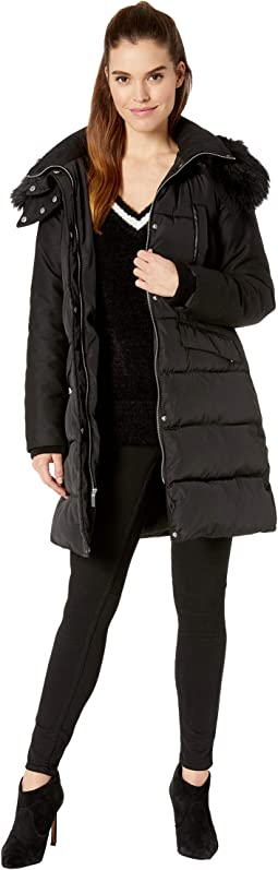 Faux Fur Wool Four-Pocket w/ Hood