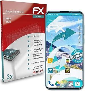 atFoliX Skärmskydd är kompatibel med Meizu 16Xs Film, ultraklart och flexibelt FX Skärmskyddsfilm (3X)