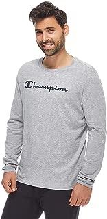 Long Sleeve Crewneck T-Shirt For Men - Grey XL