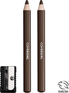 COVERGIRL Easy Breezy Brow Fill+Define Pencils, [505] Rich Brown, 2 Count (Packaging May Vary)