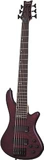 Schecter Stiletto Custom-6 Bass Guitar (6 String, Vampyre Red Satin)