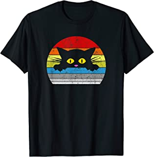 Cat Shirt Kitty Peeking Over for Cat Lovers T-Shirt