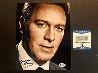 Christopher Plummer Hot Autographed Signed Memorabilia 8x10 Photo Beckett BAS COA