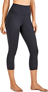 CRZ YOGA Women's Naked Feeling I High Waist Crop Capri Leggings Workout Pants - 19 Inches