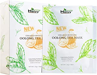 Heivy Collagen Boosting New Oolong Tea Mask, Long-lasting Hydration Face Mask, Collagen..