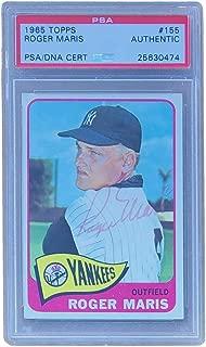 Roger Maris New York Yankees Signed 1965 Topps Card #155 PSA DNA
