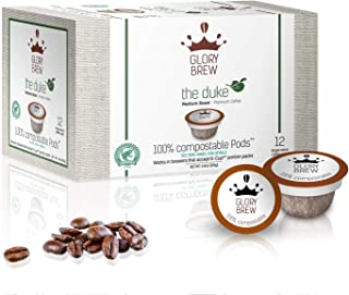 GLORYBREW - The Duke- 36 count 100% Compostable Coffee Pods for Keurig K-Cup Coffee Brewers-Rainforest Alliance certified coffee- Medium Roast | Better than Recyclable and Biodegradable Coffee Pods