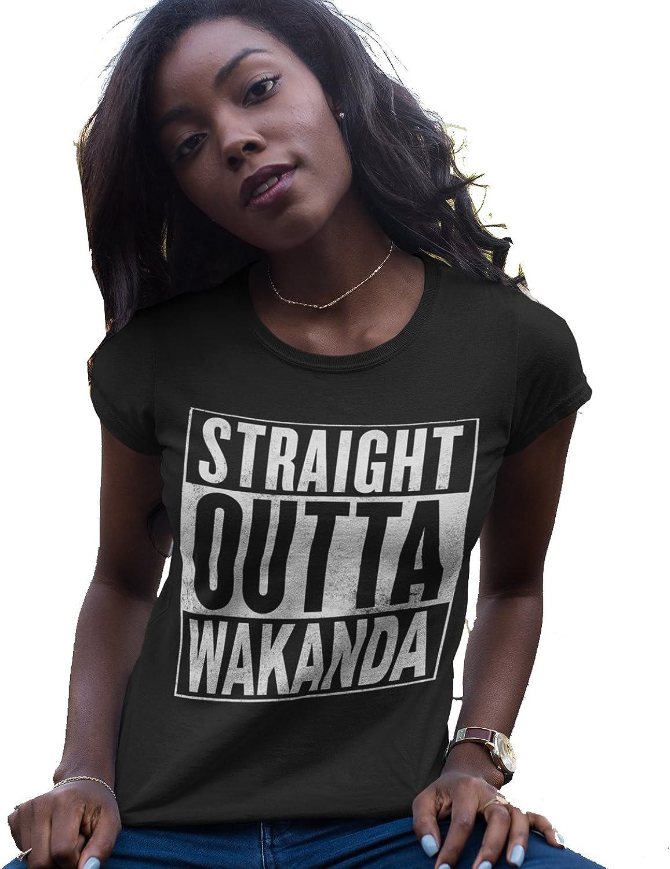 IApparel Straight Outta Wakanda Women Black Shirt