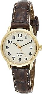 ساعة ايزي ريدر للنساء من تايمكس بسوار جلدي 25 ملم، موديل T20071