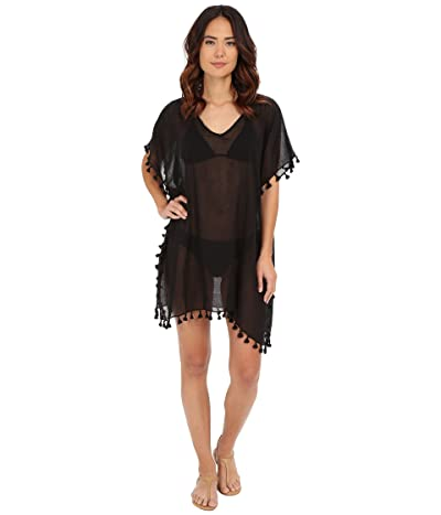 Seafolly Future Tribe Amnesia Kaftan Cover-Up (Black) Women