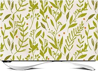 NANKAN Inomhus TV-skydd 50 cm – 150 cm dammsäker bomull linne tyg TV-skärmskydd söta blommor blad djurtryck TV-display sky...