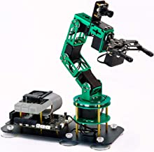 Yahboom Programmable Robot Arm for Raspberry Pi 4B AI Smart Robotic Arm with Camera 6-DOF ROS Open Source for Adults (DOFB...