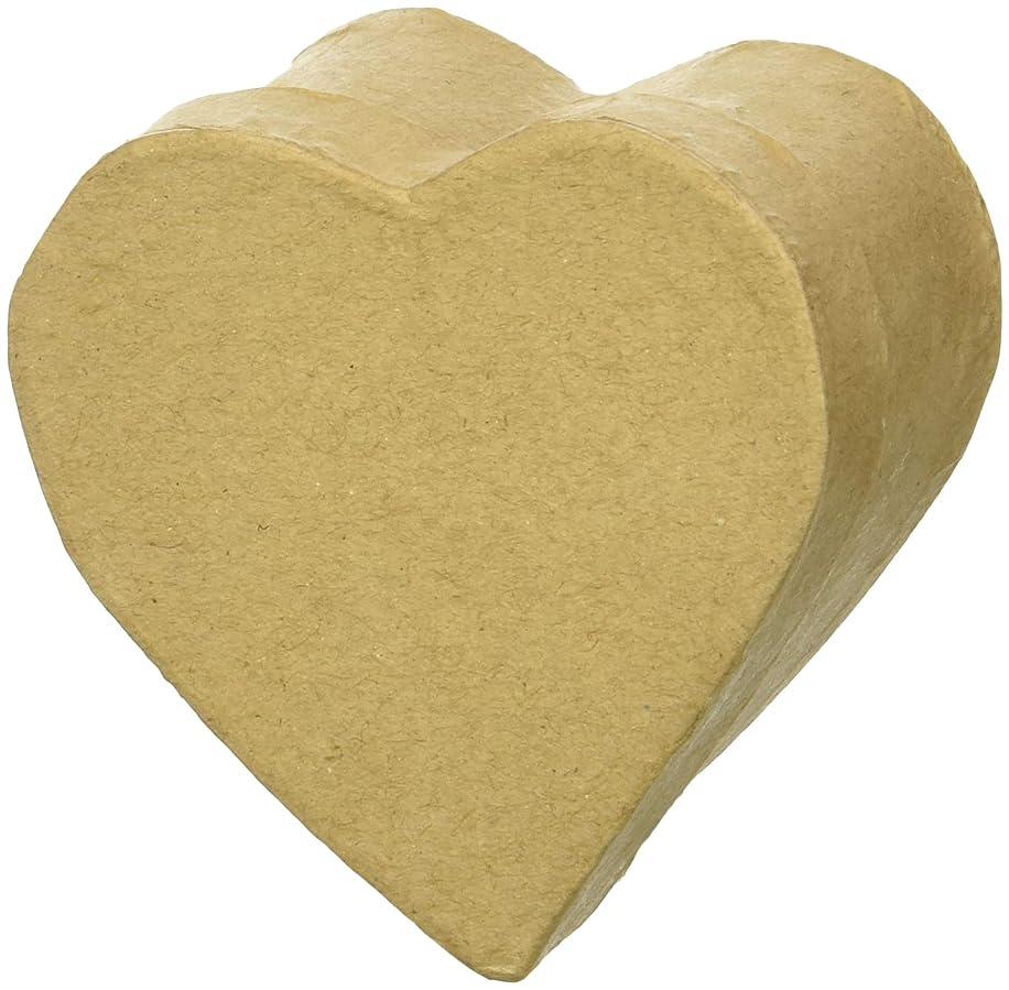 Craft Pedlars CPL1001021 Heart Kraft Paper Mache Craft Ped Box Mini