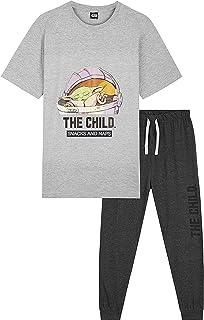 Disney Star Wars Mens Pyjamas Set, Baby Yoda 2 Piece Mens Pjs, The Mandalorian The Child Short Sleeve Top and Lounge Pants...