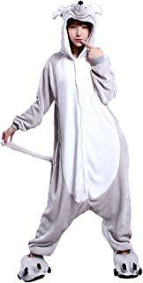 Lucky Mouse Mascot Collection Unisex Jumpsuit Dress Up Costume S-XL