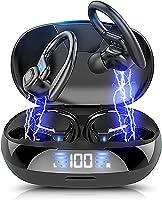 【2021革新版 Bluetooth5.0】ワイヤレスイヤホン 耳掛け式 Bluetoothイヤホンスポーツ仕様Hi-Fi 低遅延 LED残量表示 ノイズキャンセリングAAC対応自動ペアリング 瞬間接続 最大40時間連続再生ハンズフリー通話...