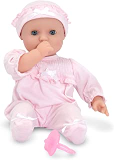 Melissa & Doug Mine to Love Jenna 12-Inch Soft Body Baby Doll (Romper and Hat..
