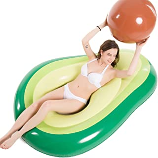 Jasonwell Inflatable Avocado Pool Float Floatie with Ball Water Fun Large Blow Up Summer..