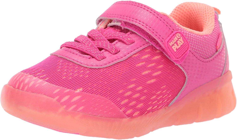 Stride Rite unisex-child Stride Rite Lighted Neo Boy's and Girl's Athletic Light-up Mesh Sneaker