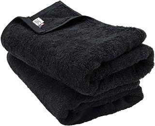 ブルーム 今治タオル 認定 レオン バスタオル 2枚セット ホテル仕様 サンホーキン綿 日本製 (ブラック)