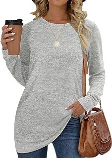 پیراهن های زنانه یقه آستین بلند با یقه بلند لباس ساده مد روز تاپس
