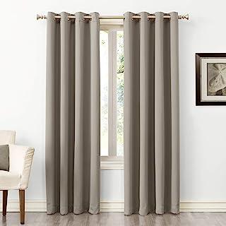 "Sun Zero Easton Blackout Energy Efficient Grommet Curtain Panel, 54"" x 63"", Stone"